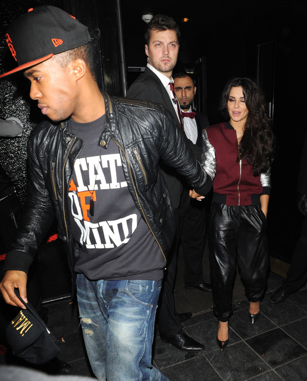 Celebrities leaving the Rose Club Featuring: Cheryl Cole, Tre Holloway Where: London, United Kingdom