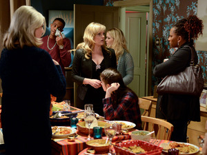 Cora and Tanya are surprised when an angry Ava turns up unannounced to their dinner party.