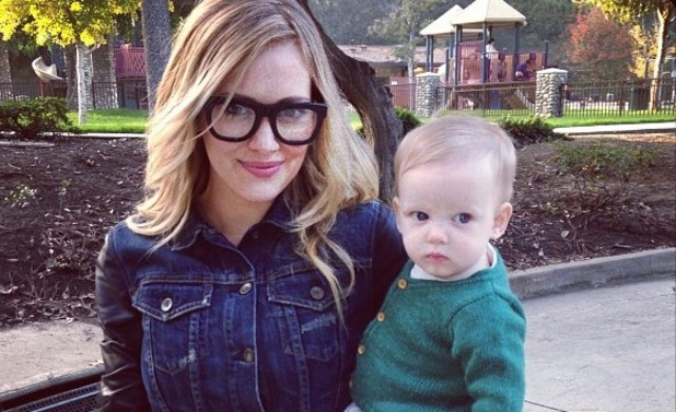Hilary Duff and son Luca Comrie