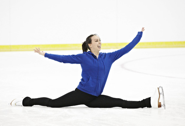 Beth Tweddle trains for Dancing On Ice