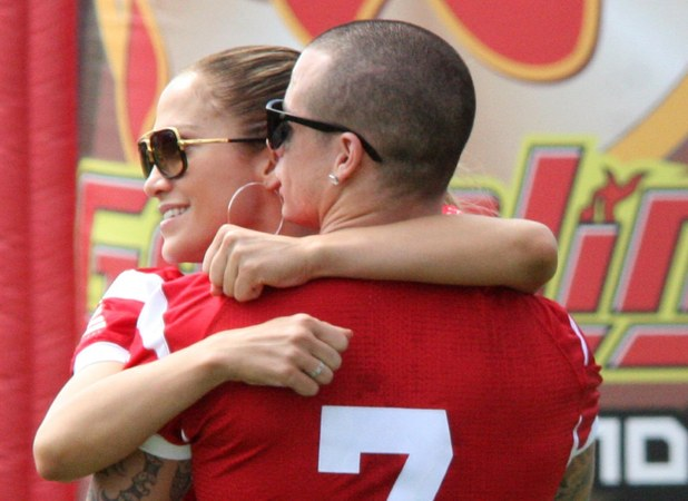 Casper Smart,Jennifer Lopez Jennifer Lopez plays a football game at a charity event in aid of victims of Hurricane Sandy at Hiram Bithorn Stadium San Juan, Puerto Rico - 22.12.12 Credit: WENN.com