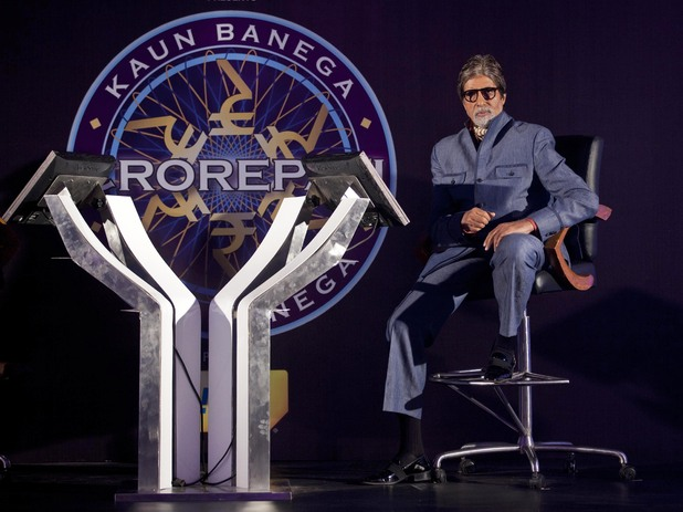 "Bollywood actor Amitabh Bachchan attends a news conference to promote his television show Kaun Banega Crorepati,"" in Mumbai, India, Wednesday, Aug. 29, 2012. Bachchan has had a successful run as the host of the show, India's version of the hit television show ""Who Wants To Be A Millionaire."""