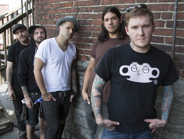 Brian Fallon, Benny Horowitz, Alex Levine, Alex Rosamilia, and Ian Perkins, of the musical group, The Gaslight Anthem