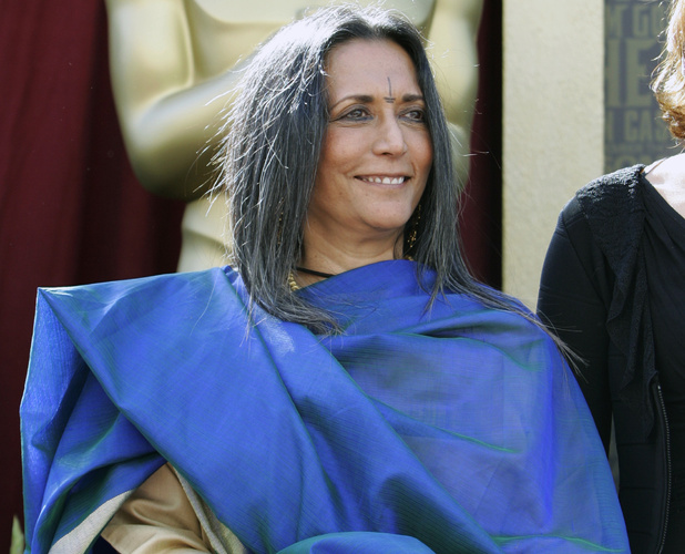 "Deepa Mehta, director of the Oscar-nominated best foreign language film ""Water"" from Canada, poses outside the Kodak Theatre in Los Angeles"