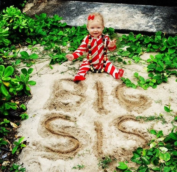 Miss Mode: Jessica Simpson's baby Maxwell at Christmas