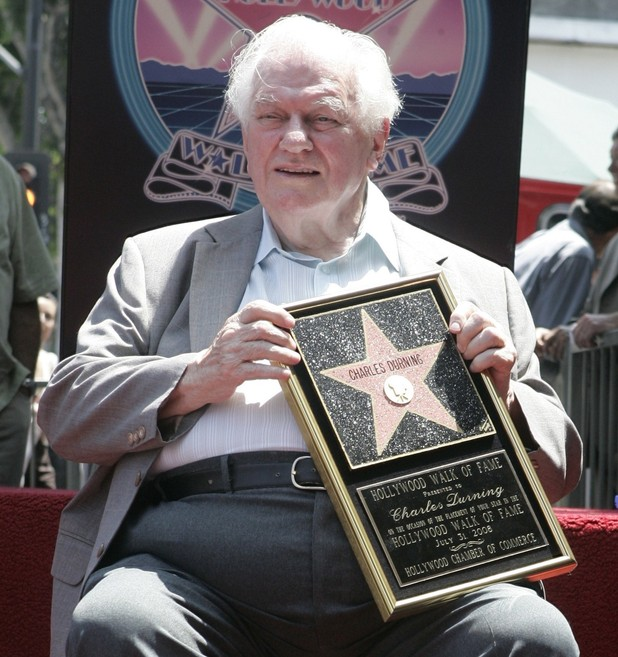 Actor Charles Durning poses during ceremonies honoring him with a star on the Hollywood Walk of Fame Thursday July 31, 2008