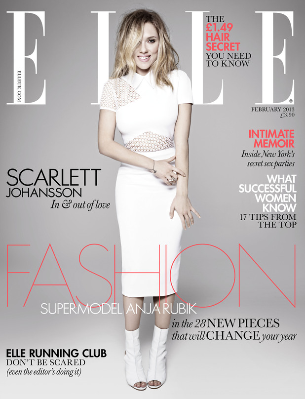 Scarlett Johansson on the Cover of Elle Magazine