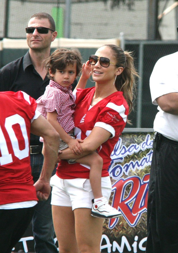 Jennifer Lopez, Max Muniz Jennifer Lopez plays a football game at a charity event in aid of victims of Hurricane Sandy at Hiram Bithorn Stadium San Juan, Puerto Rico - 22.12.12 Credit: WENN.com
