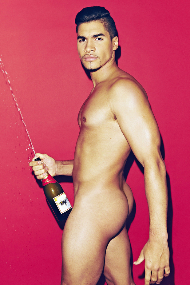 Louis Smith strips for Heat Magazine Christmas Special, December 2012