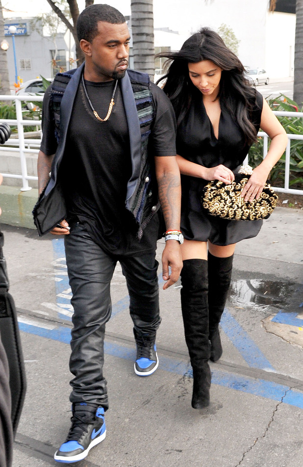 Kanye West and Kim Kardashian leaving Kung Pao Bistro in West Hollywood Los Angeles, California - 23.12.12 Credit: (Mandatory): JP/JFXimages/WENN.com
