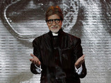 Indian film actor Amitabh Bachchan arrives for the Tribute to Hindi Cinema at the Marrakech International Film Festival at the Marrakech Congress Palace in Marrakech, Saturday, Dec. 1, 2012. The Film Festival take place until Dec.8.
