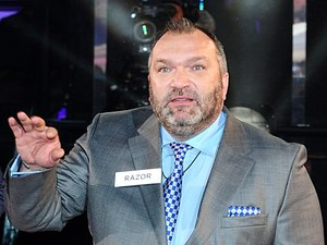 "Neil ""Razor"" Ruddock arriving at the launch of Celebrity Big Brother 2013"
