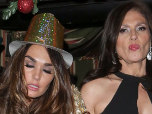 Tamara Ecclestone leaves Annabel&#39;s nightclub in Mayfair in London, after New Years celebrations a little unsteady on her feet Featuring: Tamara Ecclestone Where: London