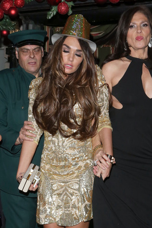 Tamara Ecclestone leaves Annabel's nightclub in Mayfair in London, after New Years celebrations a little unsteady on her feet Featuring: Tamara Ecclestone Where: London