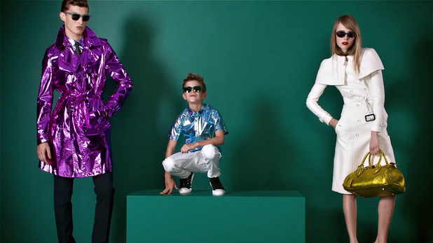Romeo Beckham appears in The Burberry Spring/Summer 2013 campaign ad