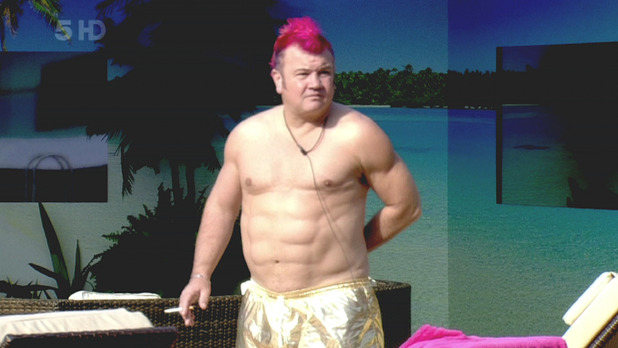 Celebrity Big Brother 8 - Day 10 Darryn Lyons enjoys the early morning sun with a cigarette. England - 29.08.2011