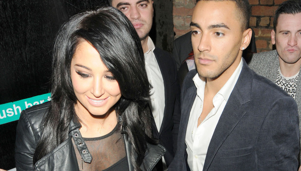 Tulisa Contostavlos and her new boyfriend Danny Simpson seen leaving The Rose Club. Danny and Tulisa's PA, Gareth, both left the club sporting ankle cast. Featuring: Tulisa Contostavlos, Danny Simpson Where: London, London When: 03 Jan 2013 Credit: Yi Quai/YDPhotos.co.uk/WENN.com