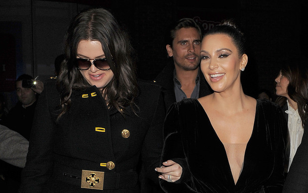 Khloe Kardashian, Kim Kardashian and Kanye West leaving Hakkasan restaurant on Tottenham Court Road. The group decided to have a walk up Tottenham Court Road, and drew and a huge crowd, when they popped into Sainsbury's! London, England - 10.11.12 Mandatory Credit: Will Alexander/WENN.com