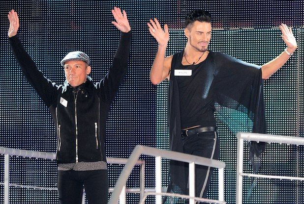 Frankie Dettori and Rylan Clark arriving at the launch of Celebrity Big Brother 2013