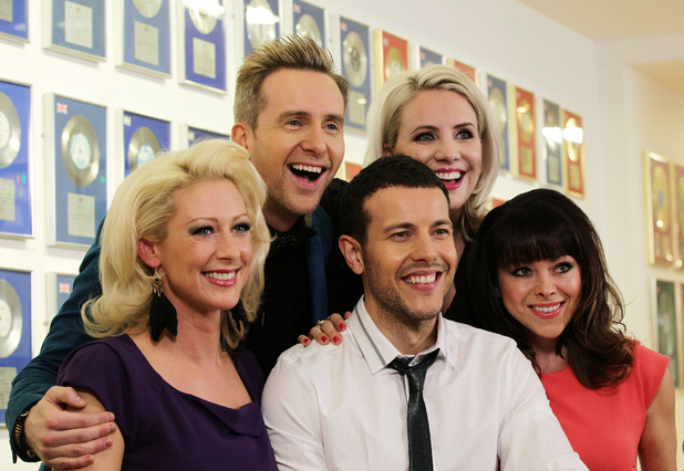 "Steps (left to right) Faye Tozer, Ian ""H"" Watkins, Lee Latchford-Evans, Claire Richards and Lisa Scott Lee"