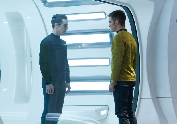 Chris Pine & Benedict Cumberbatch In 'Star Trek Into Darkness'