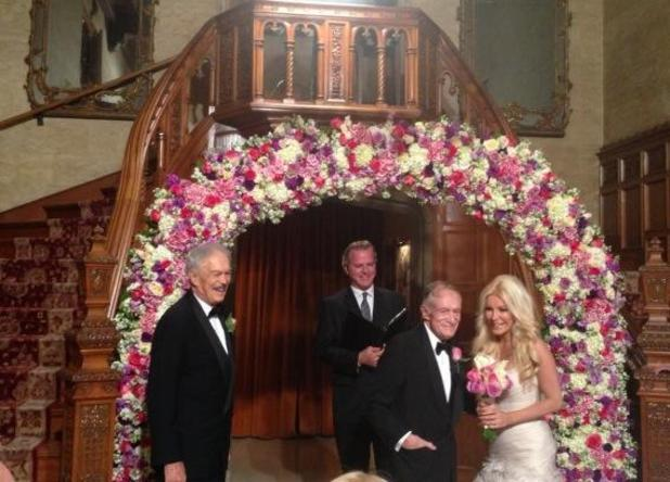 Hugh Hefner and Crystal Harris marry