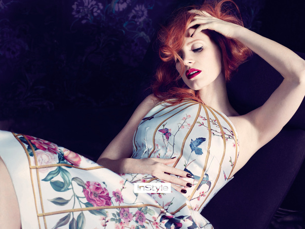 Jessica Chastain photo shoot for InStyle February edition
