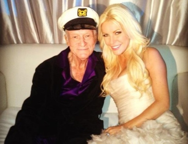 Hugh Hefner and Crystal Harris celebrate New Year's Eve
