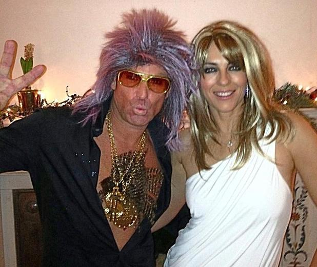 Shane Warne and Liz Hurley
