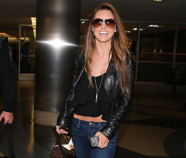 Audrina Patridge arrives at LAX airport.