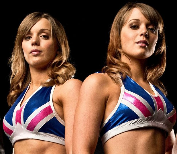 The Blossom Twins (Lucy and Kelly Knott are teaching assistants but at night are tag team wrestlers)