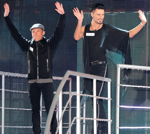 Rylan Clark and Frankie Dettori enter the Celebrity Big Brother house 2013