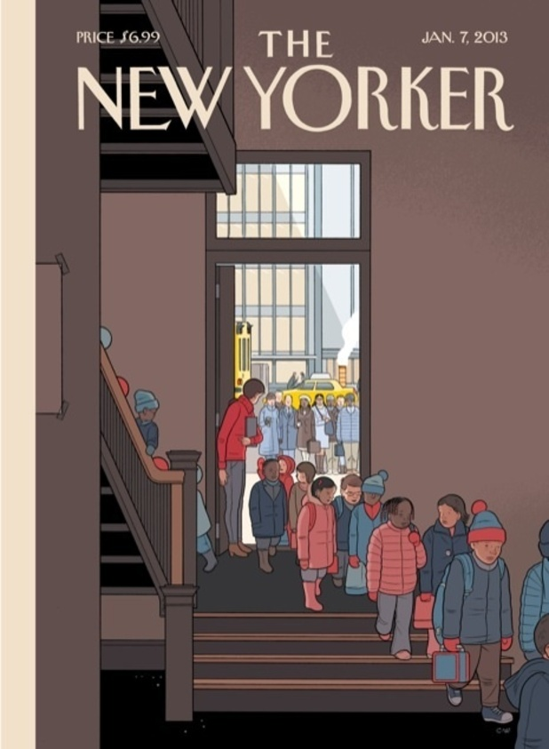 New Yorker cover Chris Ware Newtown shooting