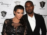 Kim Kardashian and Kanye West arriving as reality Star Kim Kardashian rings in the New Year at 1 Oak Nightclub, Mirage Hotel and Casino, Las Vegas, NV.