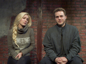 Heidi Montag and Spencer Pratt in Celebrity Big Brother bunker