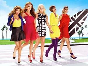The Saturdays in 'Chasing The Saturdays' advert.
