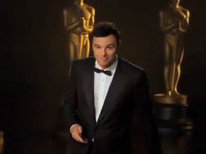 Seth MacFarlane in funny adverts for Academy Awards - video still