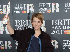 The Brit Awards 2013 launch night: Tom Odell with his award