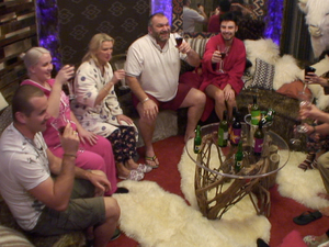 Day 6: The housemates raise a toast