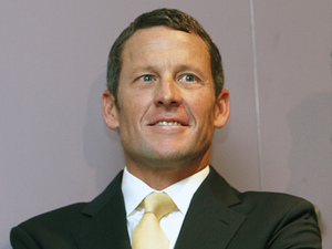 Lance Armstrong, February 2011 file photo