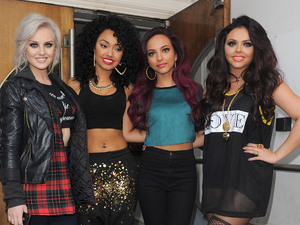 Perrie Edwards, Leigh-Anne Pinnock, Jade Thirlwall and Jesy Nelson aka Little Mix, leaving the Maida Vale studios, having performed on Live Lounge.