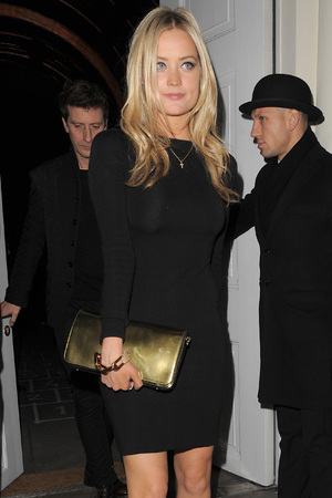Laura Whitmore leaving Sketch club after the GQ magazine private dinner. London, England - 09.01.13 Featuring: Laura Whitmore