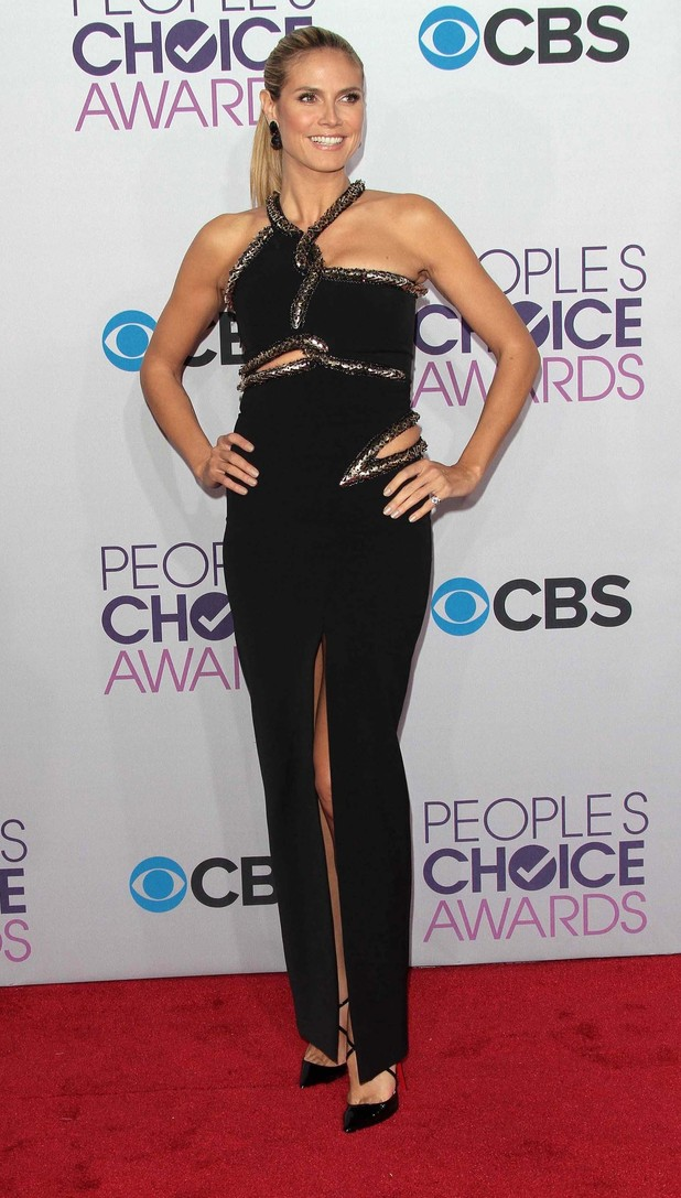 39th Annual People's Choice Awards at Nokia Theatre L.A. Live - Arrivals Featuring: Heidi Klum Where: Los Angeles, California, United States