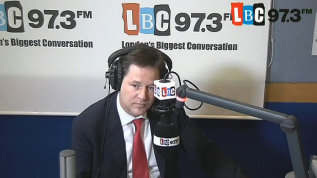 Nick Clegg blasted by caller on LBC show