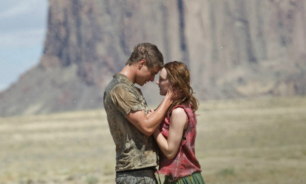 'The Host' still: Max Irons & Saoirse Ronan