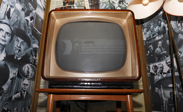 Black and white TV from the 50s