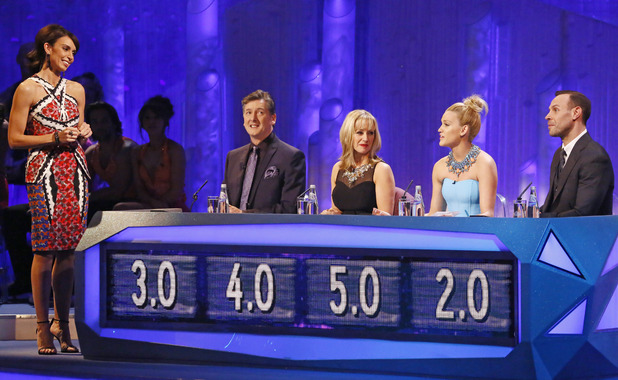 Dancing on Ice Week 2: Christine with the judges.
