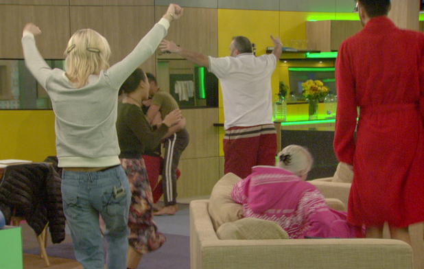 the housemates celebrate