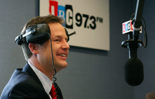 Nick Clegg to hold live weekly radio phone-in on LBC