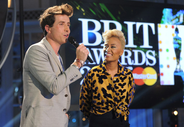 The Brit Awards 2013 launch night: Nick Grimshaw and Emeli Sande